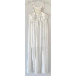 Express Dresses - 🆕 EXPRESS CROCHETED CUT-IN CAMI MAXI DRESS SZ S